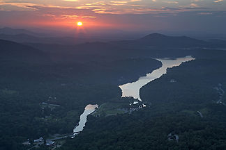 Sunrise over Lake Lure, NC by Jonathan Jackson - Fine art photography for sale on www.mountainmultimedia.net