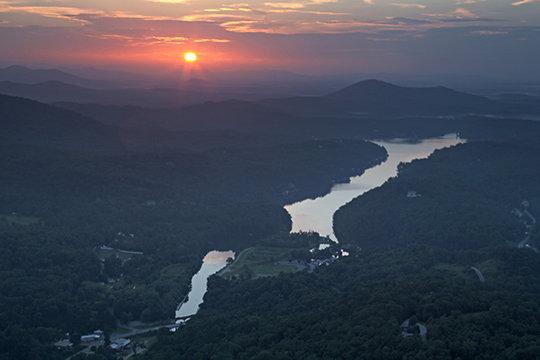 Sunrise over Lake Lure, NC
