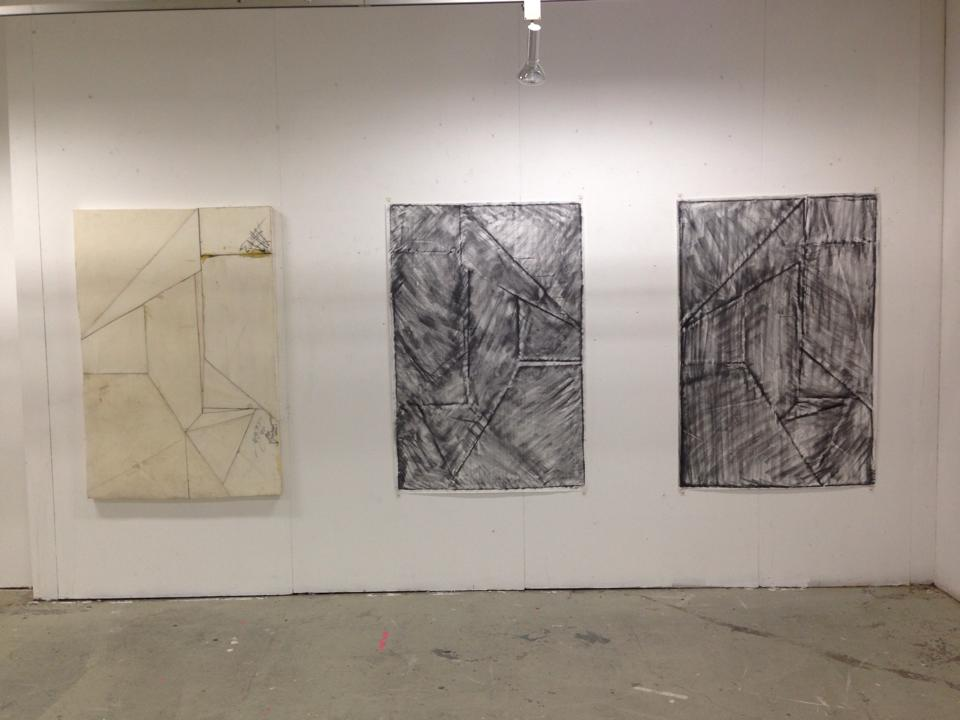 Installation view, Untitled 1, 2, 3.