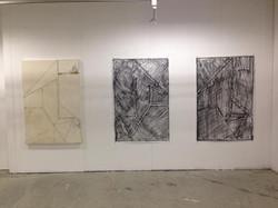 Installation view, Untitled 1, 2, 3.