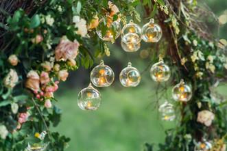 Wiszące szklanej kolbie Świece