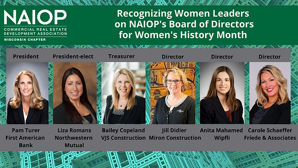 2021 Women's History Month- NAIOP's Wome