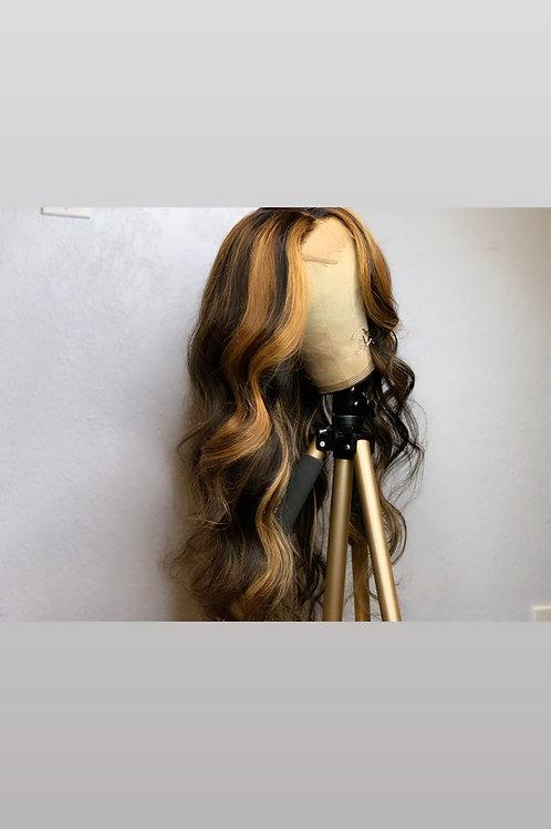 Highlighted Closure Slip-on Wig