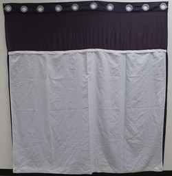 Shower Curtain w/ Removable Liner - Hook less - Back