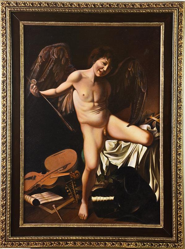 Amor der Sieger von Caravaggio