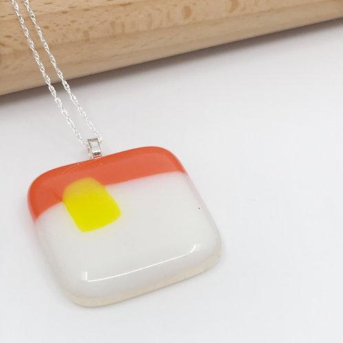 Orange, White & Yellow Stripe