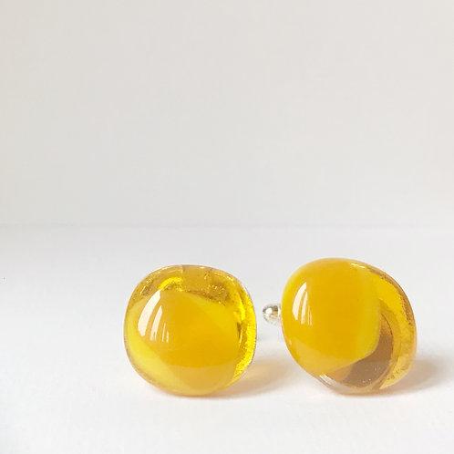 Colour Pop Cufflinks - Sunny Yellow