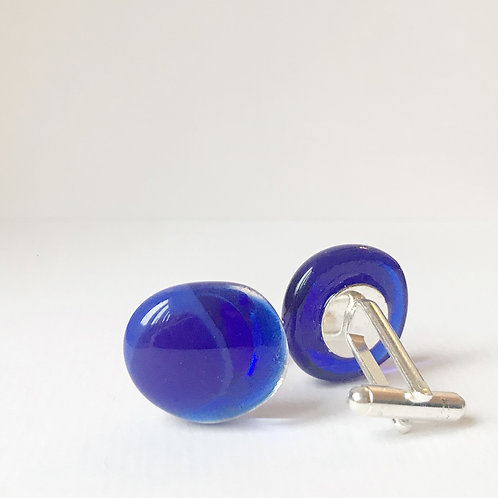 Colour Pop Cufflinks - Cobalt