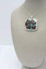 Brown & Aqua Sprinkle (Medium pendant)