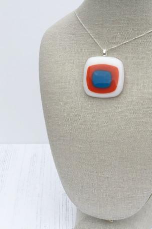 Trio Pendant (White, Orange, Egyptian Blue) (Medium pendant)