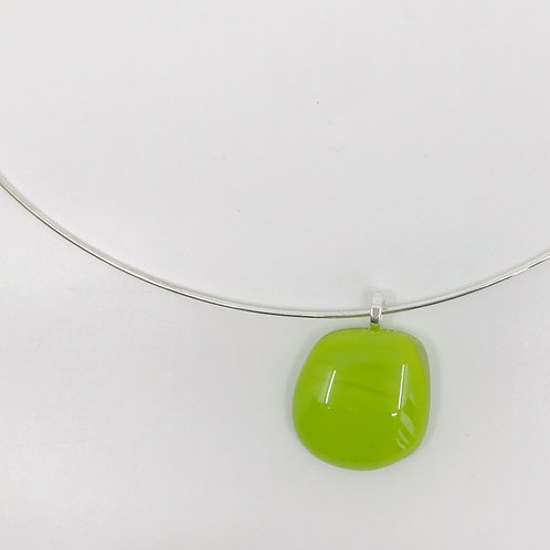 Extra Small Spring Green Puddle Pendant