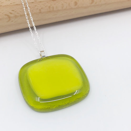 Medium Yellow on Lime Green Square