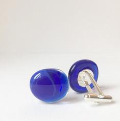Fused-Glass-Puddle-Cufflinks-Cobalt