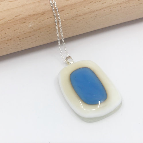 Small Egyptian Blue on Vanilla Pendant