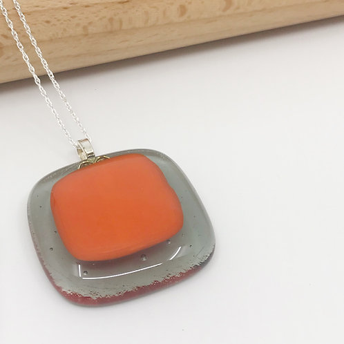 Medium Orange on Translucent Grey Square
