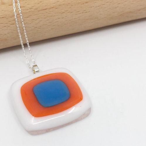 Medium Egyptian Blue, Orange & White Trio