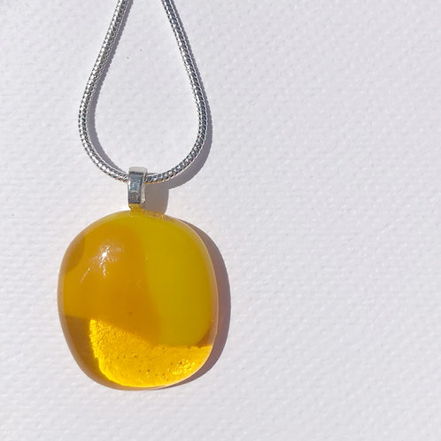 Extra Small Puddle Pendant - Sunflower Yellow and Marigold