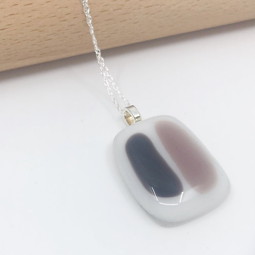 Small Purple & Violet Stripes on White Pendant