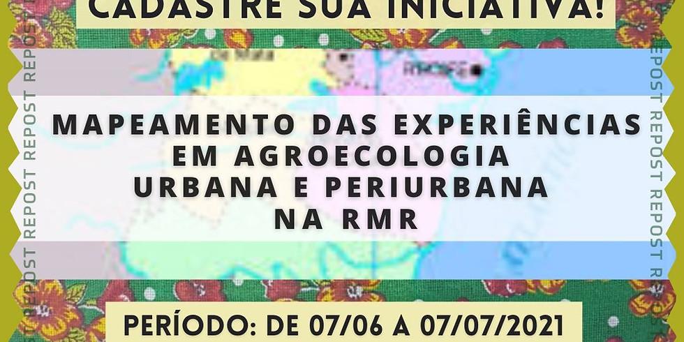 Mapeamento Agroecologia Urbana da RMR