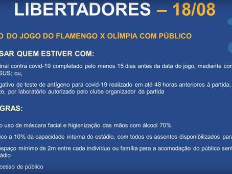 Prefeitura do Rio libera 10% de público no Maracanã para a partida do Flamengo na Libertadores
