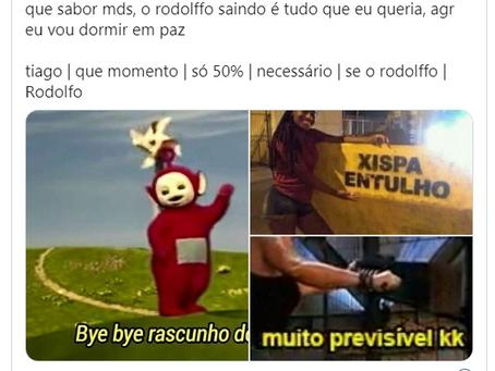 Memes mostram felicidade e alívio dos fãs após Rodolffo ser eliminado
