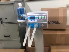 HM recebe cinco respiradores para leitos de UTI-Covid