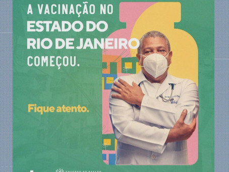 Campanha do governo do RJ contra a Covid mostra 'médico' com máscara de cabeça para baixo