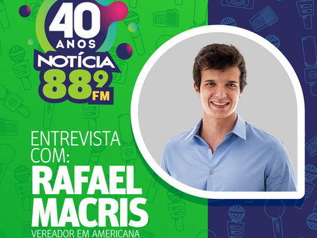 Rafael Macris, vereador de Americana, anuncia a compra de veículos para o transporte de pacientes