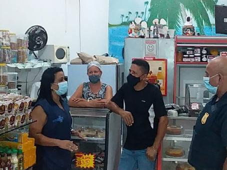 Fiscalização multa mais de 50 estabelecimentos por descumprimento de medidas sanitárias