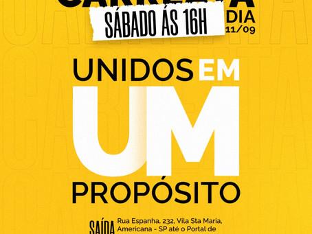 """""""Unidos em um propósito"""", carreata em prol da campanha Setembro Amarelo, tem o apoio da Notícia FM"""