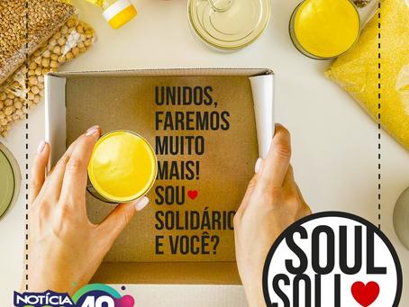 Campanha Soul Solidário arrecadará alimentos, cobertores, produtos de limpeza e de higiene pessoal