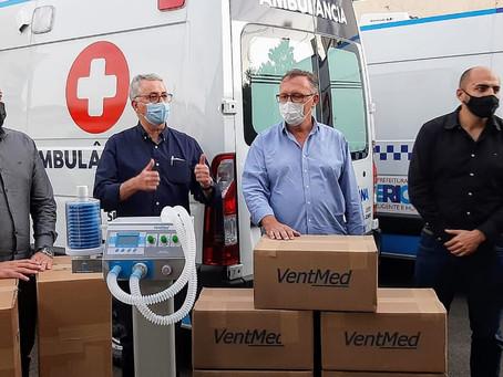 Empresa conclui entrega dos respiradores ao HM