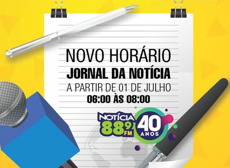 Jornal da Notícia, referência em toda região, ganha mais 30 minutos