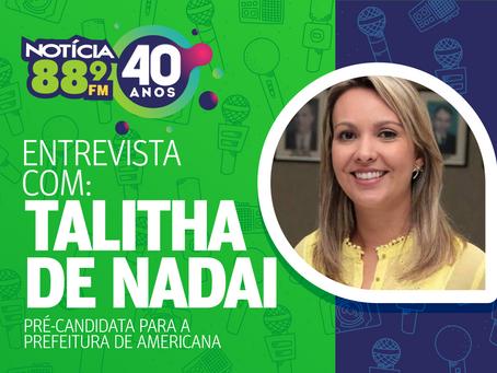 Cuidar da saúde é investimento, afirma Talitha De Nadai, candidata à Prefeitura de Americana