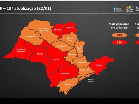 Estado de SP volta à fase vermelha na segunda e libera escolas e campeonato paulista