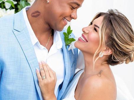 Léo Santana e Lore Improta se casam em cerimônia intimista