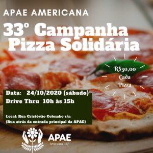 APAE de Americana promove 33ª Pizza Solidária