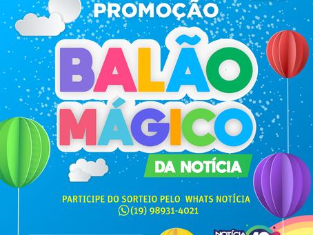 """Notícia FM presenteia as crianças: Promoção """"Balão Mágico da Notícia"""""""