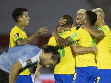 Brasil vence Uruguai em seu primeiro grande desafio nas eliminatórias