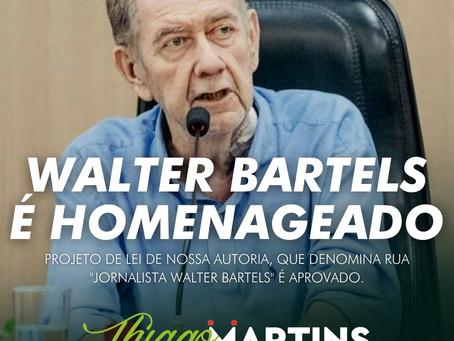 Projeto de autoria do vereador Thiago Martins homenageia Walter Bartels