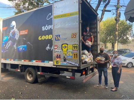 Grupo de Kart Pé de Chumbo realiza doação 1,3 tonelada de alimentos ao Fundo Social de Americana