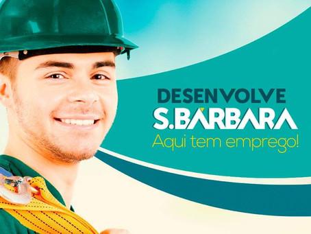 Desenvolve S. Bárbara abre 159 vagas de emprego