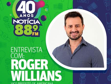 Jornal da Notícia conversa com Roger Willians sobre a obra de  barramento do Rio Piracicaba