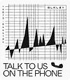 "Sticker with message ""Talk to us on the phone"""