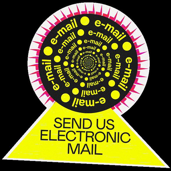 Illustration med meddelandet Skicka oss e-post