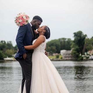 Bride amd Groom share a Kiss