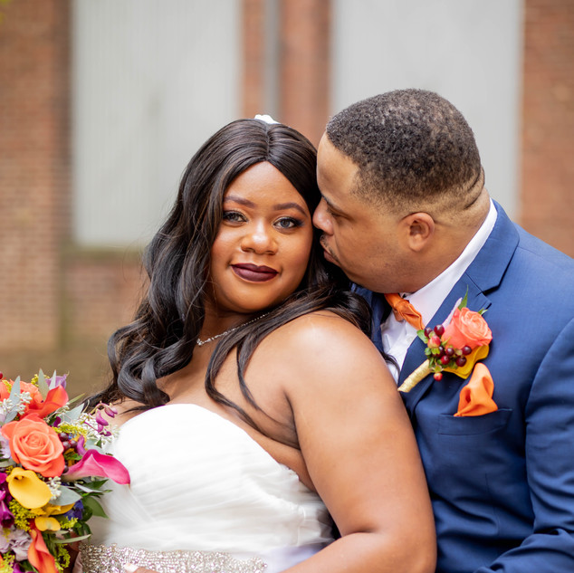 Bride and Groom Portrait at Mt Washington Mill Dye House Baltimore