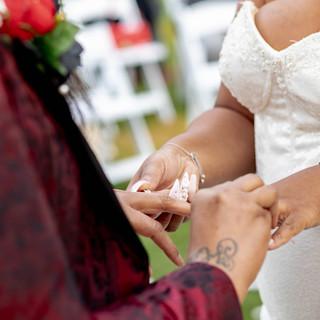 Wedding Ring Exchage at Whispering Oak Mansion