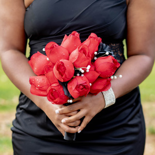 Bridesmaid Holding Bouquet at Whispering Oak Mansion