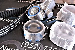 Remove & Replace the Timing Belt, Water Pump, Tensioner Pulley, and all integrated components as well as the Thermostat In your '00 -'12 Forester  3 Year | 36,000 Mile Parts & Labor Warranty.  Genuine  O.E.M Timing Components & Water Pump.  Original Equipment Mitsubosi Timing Belt.  Genuine Thermostat.  Asian  Blue Engine Coolant.  (Price subject to change depending on Engine damage severity)